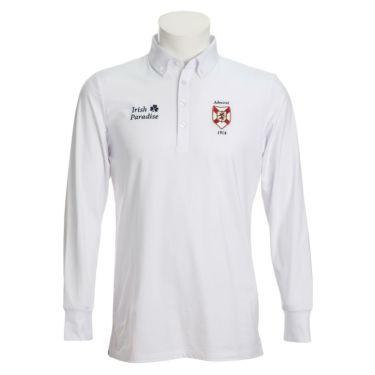 アドミラル Admiral メンズ エンブレムワッペン グレンチェック柄 長袖 ボタンダウン ポロシャツ ADMA079 2020年モデル ホワイト(00)