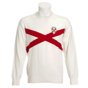 アドミラル Admiral メンズ エンブレムワッペン クロスデザイン 長袖 クルーネック セーター ADMA088 2020年モデル ホワイト(00)