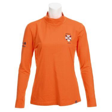 アドミラル Admiral レディース エンブレムワッペン グレンチェック柄 裏起毛 長袖 ハイネックシャツ ADLA069 2020年モデル オレンジ(46)
