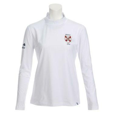 アドミラル Admiral レディース エンブレムワッペン グレンチェック柄 裏起毛 長袖 ハイネックシャツ ADLA069 2020年モデル ホワイト(00)