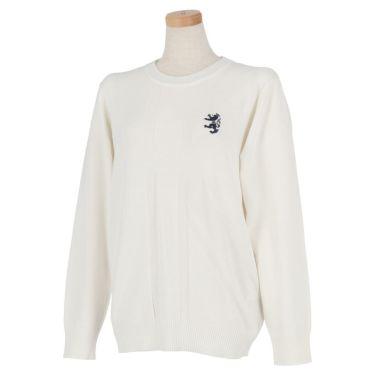 アドミラル Admiral レディース ランパントロゴ刺繍 ユニオンジャック ジャガード 長袖 クルーネック セーター ADLA077 2020年モデル ホワイト(00)