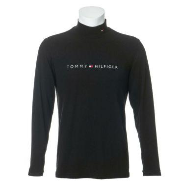 トミー ヒルフィガー ゴルフ メンズ ロゴ刺繍 長袖 ハイネックシャツ THMA072 2020年モデル ブラック(10)