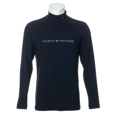 トミー ヒルフィガー ゴルフ メンズ ロゴ刺繍 長袖 ハイネックシャツ THMA072 2020年モデル ネイビー(30)