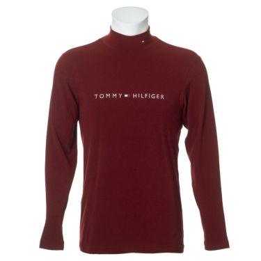 トミー ヒルフィガー ゴルフ メンズ ロゴ刺繍 長袖 ハイネックシャツ THMA072 2020年モデル レッド(40)