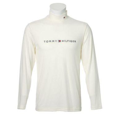 トミー ヒルフィガー ゴルフ メンズ ロゴ刺繍 長袖 ハイネックシャツ THMA072 2020年モデル ホワイト(00)