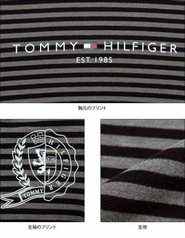 トミー ヒルフィガー ゴルフ レディース ロゴプリント ボーダー柄 長袖 ハイネックシャツ THLA064 2020年モデル 詳細4
