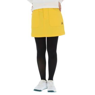 ルコック Le coq sportif レディース ロゴ刺繍 ストレッチ スカート QGWQJE01 2020年モデル イエロー(YL00)