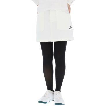 ルコック Le coq sportif レディース ロゴ刺繍 ストレッチ スカート QGWQJE01 2020年モデル ホワイト(WH00)