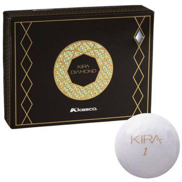 キャスコ KIRA DIAMOND キラ ダイヤモンド ゴルフボール 1ダース (12球入り) ホワイト 2020年モデル ホワイト
