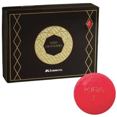 キャスコ KIRA DIAMOND キラ ダイヤモンド ゴルフボール 1ダース (12球入り) レッド 2020年モデル レッド