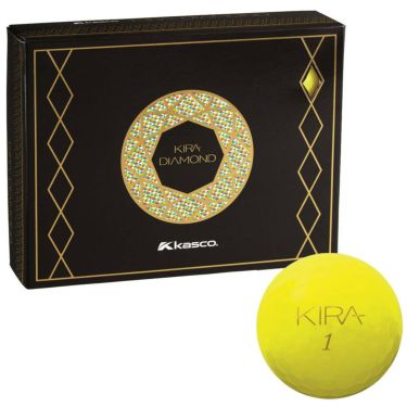 キャスコ KIRA DIAMOND キラ ダイヤモンド ゴルフボール 1ダース (12球入り) イエロー 2020年モデル イエロー