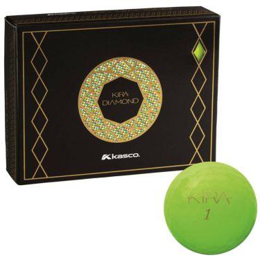 キャスコ KIRA DIAMOND キラ ダイヤモンド ゴルフボール 1ダース (12球入り) グリーン 2020年モデル グリーン