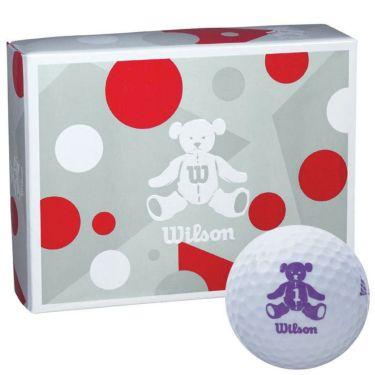 ウィルソン Wilson BEAR 4 ベア ゴルフボール 1ダース (12球入り) ホワイト ホワイト