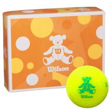 ウィルソン Wilson BEAR 4 ベア ゴルフボール 1ダース (12球入り) イエロー イエロー