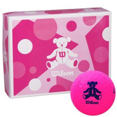 ウィルソン Wilson BEAR 4 ベア ゴルフボール 1ダース (12球入り) ピンク ピンク