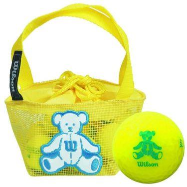 ウィルソン Wilson BEAR 4 ベア ネット入り ゴルフボール (10球入り) イエロー イエロー