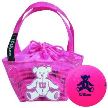 ウィルソン Wilson BEAR 4 ベア ネット入り ゴルフボール (10球入り) ピンク ピンク