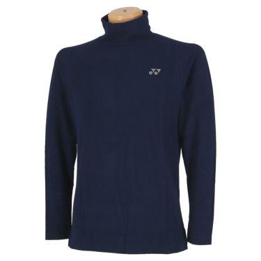 ヨネックス YONEX メンズ 起毛生地 ロゴ刺繍 長袖 タートルネックシャツ GWF1580 2019年モデル ネイビーブルー(019)