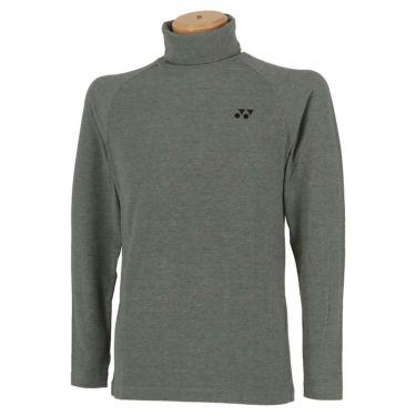 ヨネックス YONEX メンズ 起毛生地 ロゴ刺繍 長袖 タートルネックシャツ GWF1580 2019年モデル グレーモク(275)