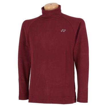 ヨネックス YONEX メンズ 起毛生地 ロゴ刺繍 長袖 タートルネックシャツ GWF1580 2019年モデル ワイン(021)