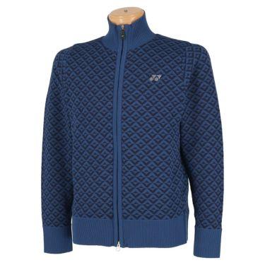 ヨネックス YONEX メンズ 幾何学柄 長袖 フルジップ セーター GWF2049 2019年モデル ブルー(002)