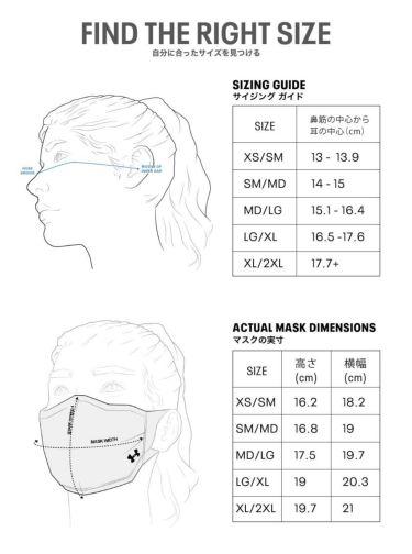 アンダーアーマー UNDER ARMOUR ユニセックス SPORTS MASK スポーツマスク 1368010 002 ブラック 2020年モデル 詳細4