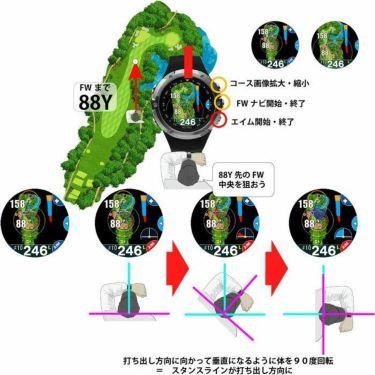 ショットナビ Shot Navi W1 Evolve エボルブ 腕時計型GPSゴルフナビ ブラック 詳細3