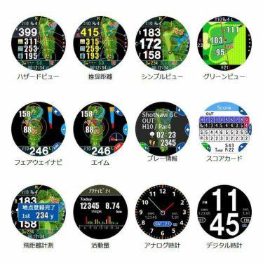 ショットナビ Shot Navi W1 Evolve エボルブ 腕時計型GPSゴルフナビ ブラック 詳細5