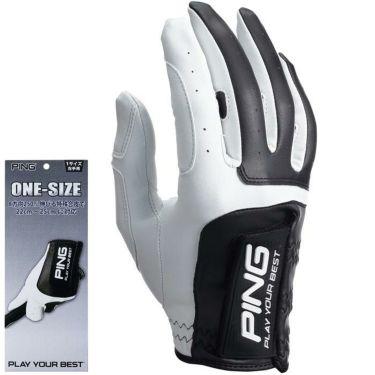 ピン PING メンズ ワンサイズ ゴルフグローブ 右手用 GL-P203RH White/Black 2020年モデル White/Black(フリーサイズ)