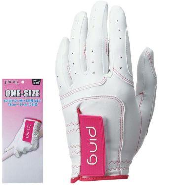 ピン PING レディース ワンサイズ ゴルフグローブ 左手用 GL-L201LH White/Pink 2020年モデル White/Pink(フリーサイズ)