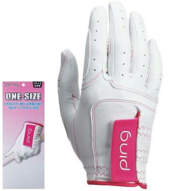 ピン PING レディース ワンサイズ ゴルフグローブ 右手用 GL-L201RH White/Pink 2020年モデル White/Pink(フリーサイズ)