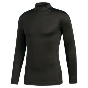 アディダス adidas メンズ ストレッチ 長袖 モックネックシャツ INS46 2020年モデル ブラック(FS7033)
