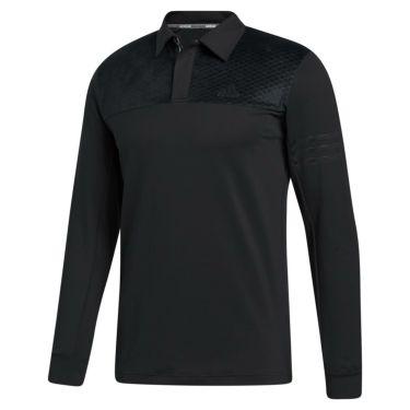 アディダス adidas メンズ ストレッチ 長袖 ポロシャツ INS62 2020年モデル ブラック(FS6879)