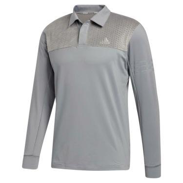 アディダス adidas メンズ ストレッチ 長袖 ポロシャツ INS62 2020年モデル グレースリー(FS6877)
