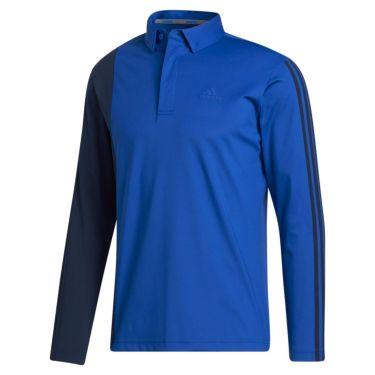 アディダス adidas メンズ カラーブロック スリーストライプス 長袖 ボタンダウン ポロシャツ INS69 2020年モデル チームロイヤルブルー(FS6838)