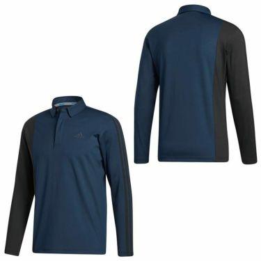 アディダス adidas メンズ カラーブロック スリーストライプス 長袖 ボタンダウン ポロシャツ INS69 2020年モデル 詳細3