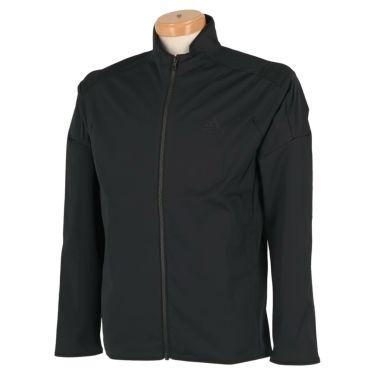 アディダス adidas メンズ ロゴプリント ストレッチ 長袖 フルジップ ジャケット INS86 2020年モデル ブラック(FS6971)