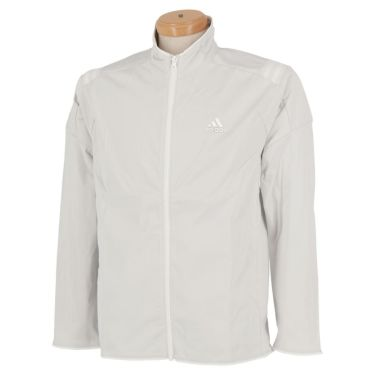 アディダス adidas メンズ ロゴプリント ストレッチ 長袖 フルジップ ジャケット INS86 2020年モデル ホワイト(FS6969)