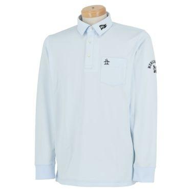 マンシングウェア Munsingwear メンズ ロゴ刺繍 長袖 ポロシャツ MGMQJB03X 2020年モデル サックス(SA00)