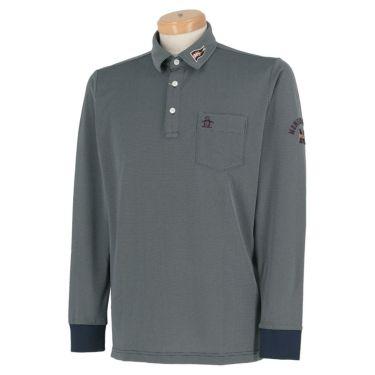 マンシングウェア Munsingwear メンズ ロゴ刺繍 長袖 ポロシャツ MGMQJB03X 2020年モデル ネイビー(NV00)