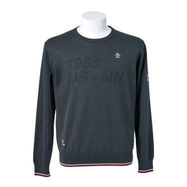 マンシングウェア Munsingwear メンズ ロゴモチーフ 長袖 クルーネック セーター MGMQJL01 2020年モデル ネイビー(NV00)