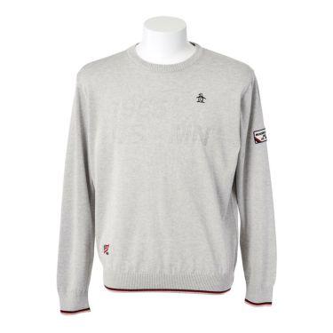 マンシングウェア Munsingwear メンズ ロゴモチーフ 長袖 クルーネック セーター MGMQJL01 2020年モデル グレー(GY00)