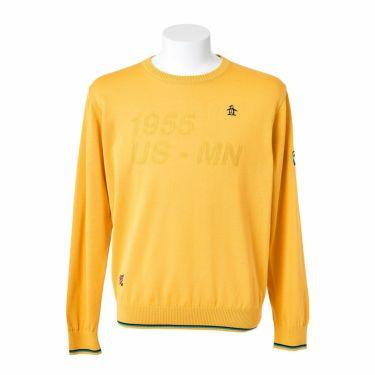 マンシングウェア Munsingwear メンズ ロゴモチーフ 長袖 クルーネック セーター MGMQJL01 2020年モデル イエロー(YL00)