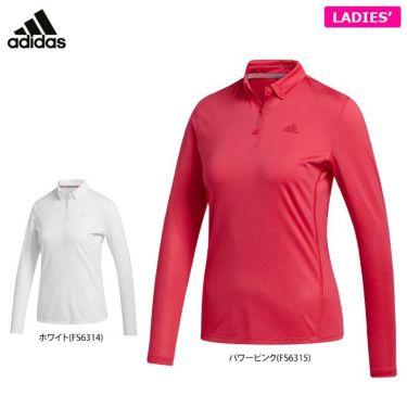 アディダス adidas レディース ロゴプリント 長袖 ボタンダウン ポロシャツ INR96 2020年モデル