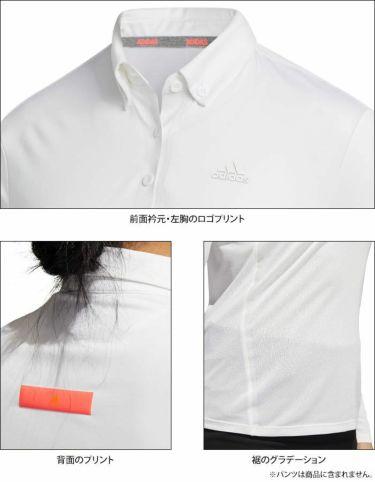 アディダス adidas レディース ロゴプリント 長袖 ボタンダウン ポロシャツ INR96 2020年モデル 詳細4