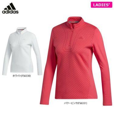 アディダス adidas レディース 生地切替 長袖 ハーフジップシャツ INS03 2020年モデル 詳細1