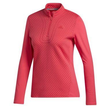 アディダス adidas レディース 生地切替 長袖 ハーフジップシャツ INS03 2020年モデル パワーピンク(FS6331)