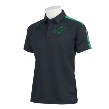 デサントゴルフ DESCENTE GOLF メンズ 配色切替 鹿の子 半袖 ラグランスリーブ ポロシャツ DGMQJA07 2020年モデル ブラック(BK00)