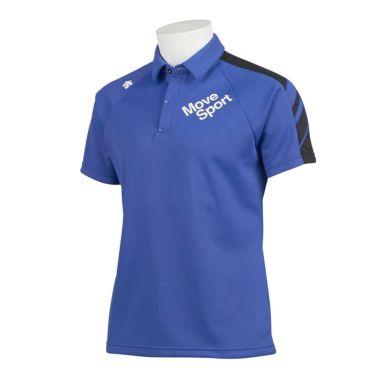デサントゴルフ DESCENTE GOLF メンズ 配色切替 鹿の子 半袖 ラグランスリーブ ポロシャツ DGMQJA07 2020年モデル ブルー(BL00)
