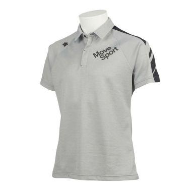 デサントゴルフ DESCENTE GOLF メンズ 配色切替 鹿の子 半袖 ラグランスリーブ ポロシャツ DGMQJA07 2020年モデル グレー(GY00)